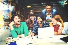 Diverso concetto di People Group Working dell'architetto fotografie stock