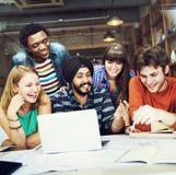 Diverso concetto di People Group Working dell'architetto fotografia stock