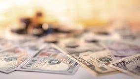 Diverso de moneda y de billete de banco internacionales del dinero Imágenes de archivo libres de regalías