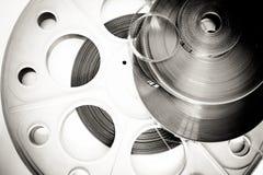 Diverso detalle de la película de 35m m blanco y negro Imágenes de archivo libres de regalías