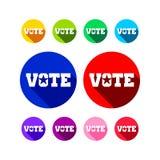 Diverso diseño gráfico de colores del icono del voto Fotos de archivo