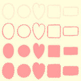 Sistema del marco del Doodle Foto de archivo