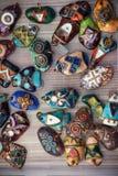 Diverso encanto del talismán del símbolo del icono hermoso está en la tabla Imagen de archivo libre de regalías