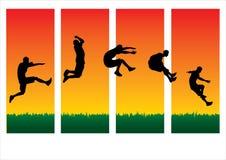 Diverso estilo del salto Imagen de archivo libre de regalías