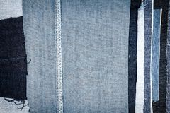 Diverso fondo abstracto de la textura de las rayas de los vaqueros fotografía de archivo libre de regalías