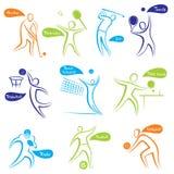 Diverso icono del deporte o diseño del símbolo Imagen de archivo libre de regalías