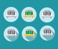 Diverso icono determinado del sushi Fotografía de archivo libre de regalías