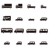 Diverso icono simple del coche Imagen de archivo