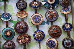 Diverso icono y símbolo, talismán y beautifu del encanto Fotografía de archivo libre de regalías