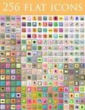 Diverso insieme dell'illustrazione piana di vettore delle icone Immagine Stock