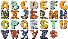 Diverso libro de recuerdos de las letras de los colores Imagenes de archivo