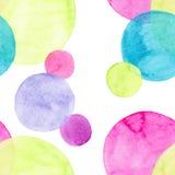 Diverso modelo de las formas de los círculos coloridos brillantes transparentes maravillosos blandos artísticos hermosos abstract Stock de ilustración