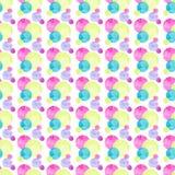 Diverso modelo de las formas de los círculos coloridos brillantes transparentes maravillosos blandos artísticos hermosos abstract Foto de archivo libre de regalías