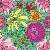 Diverso modelo inconsútil de la flor Foto de archivo libre de regalías