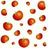 Diverso modelo inconsútil de los tomates de los tamaños aislado en fondo ligero Imágenes de archivo libres de regalías