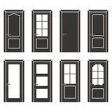 Diverso sistema de la puerta del diseño stock de ilustración
