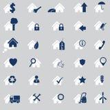 Diverso sistema del icono de la casa de 30 Imágenes de archivo libres de regalías