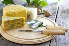 Diverso surtido del queso Fotos de archivo