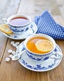 Diverso té en tazas de China Imágenes de archivo libres de regalías