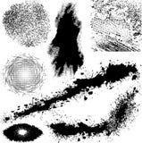 Diverso vector de los elementos de Grunge Fotografía de archivo libre de regalías