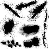 Diverso vector salpica Foto de archivo