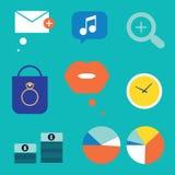Diversos ícones Imagem de Stock