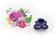 Diversos accesorios del pelo Foto de archivo libre de regalías