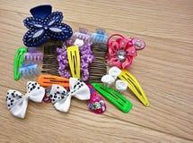Diversos accesorios del pelo Fotografía de archivo libre de regalías