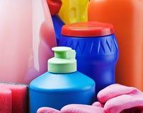 Accesorios y productos para limpiar Fotografía de archivo libre de regalías