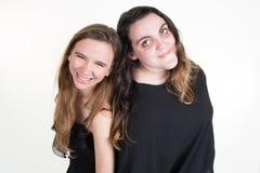 Diversos adolescentes de los jóvenes, las mujeres caucásicas adelgazan y grasa Fotos de archivo libres de regalías