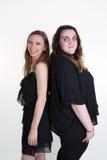 Diversos adolescentes de los jóvenes, las mujeres caucásicas adelgazan y grasa Fotografía de archivo libre de regalías
