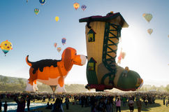 Diversos baloons del aire de las formas Imagen de archivo libre de regalías