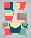 Diversos banderas y cuadros de texto coloridos del web Imagen de archivo libre de regalías