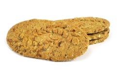 Diversos biscoitos em um fundo branco isolado Foto de Stock