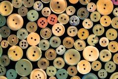 Diversos botones viejos Fotografía de archivo