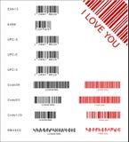 Diversos códigos de barras