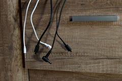 Diversos cables de carga Foto de archivo libre de regalías