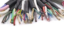Diversos cables eléctricos fotografía de archivo