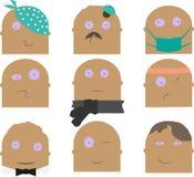 Diversos caracteres fijados Imagen de archivo
