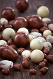 Diversos caramelos de chocolate fotografía de archivo