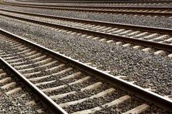 Carriles del tren Fotografía de archivo