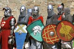 Diversos cavaleiros foto de stock royalty free