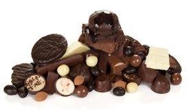 Diversos chocolates, comida dulce Foto de archivo libre de regalías