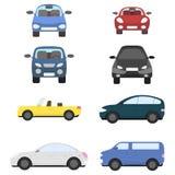 Diversos coches planos ilustración del vector