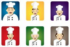Diversos cocineros Foto de archivo libre de regalías