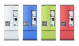 Diversos colores de la máquina expendedora Foto de archivo libre de regalías