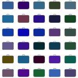 Diversos colores de las maletas trama Imagen de archivo