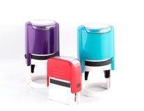 Diversos colores de los mano-sellos automáticos fotografía de archivo libre de regalías