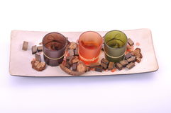 Diversos colores del zen del pote decorativo de la vela Foto de archivo