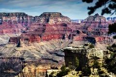Diversos colores en el valle de Grand Canyon Imagen de archivo libre de regalías